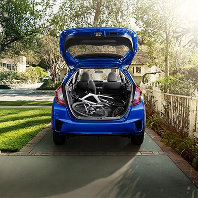 New 2018 Honda Fit Blue Exterior Trunk Capacity