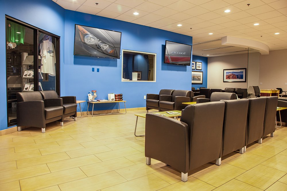 Customer Service Center Lounge inside DCH Honda of Oxnard