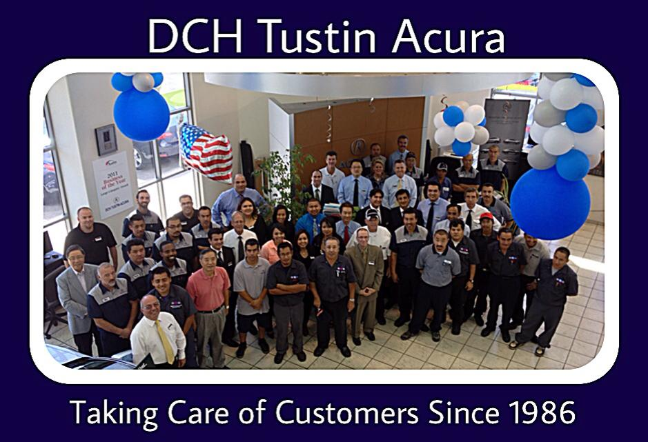 DCH Tustin Acura taking care of customers since 1986