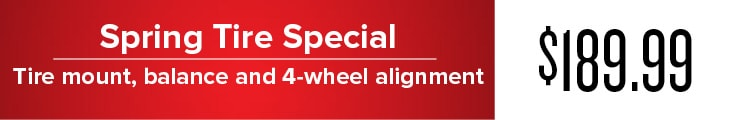 Tire Special at Dixie Mitsubishi in Mississauga, Ontario