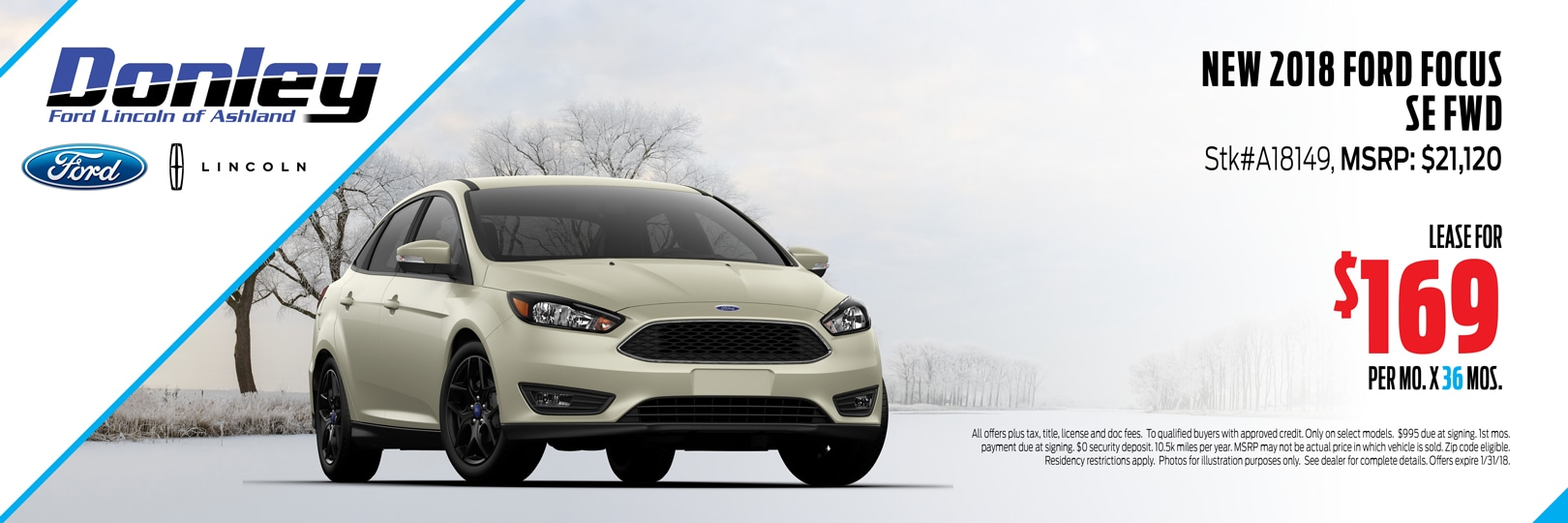 January 2018 Ford Focus Special