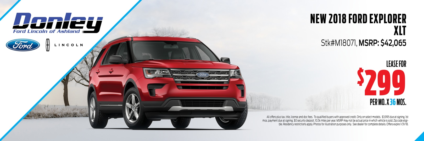 January 2018 Ford Explorer Special