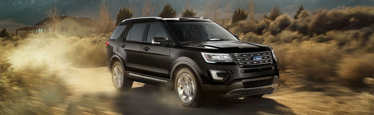 2017 Ford Explorer driving on a dirt road