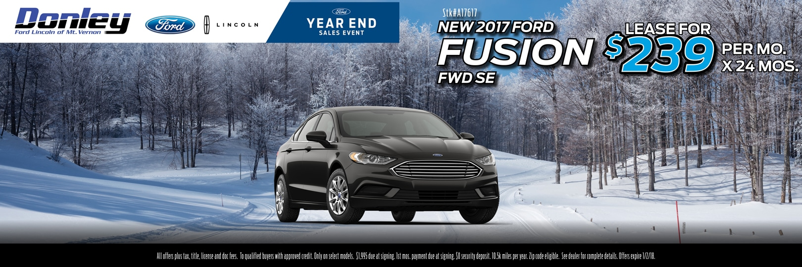 December 2017 Ford Fusion Special