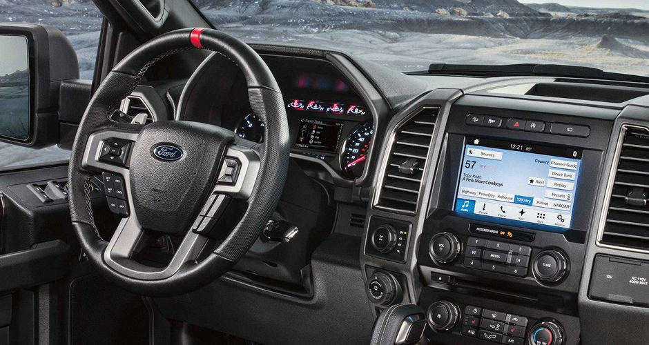 The front interior of a 2018 Ford F-150