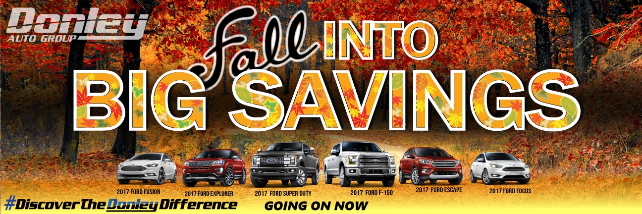 Fall Into Big savings Website Banner