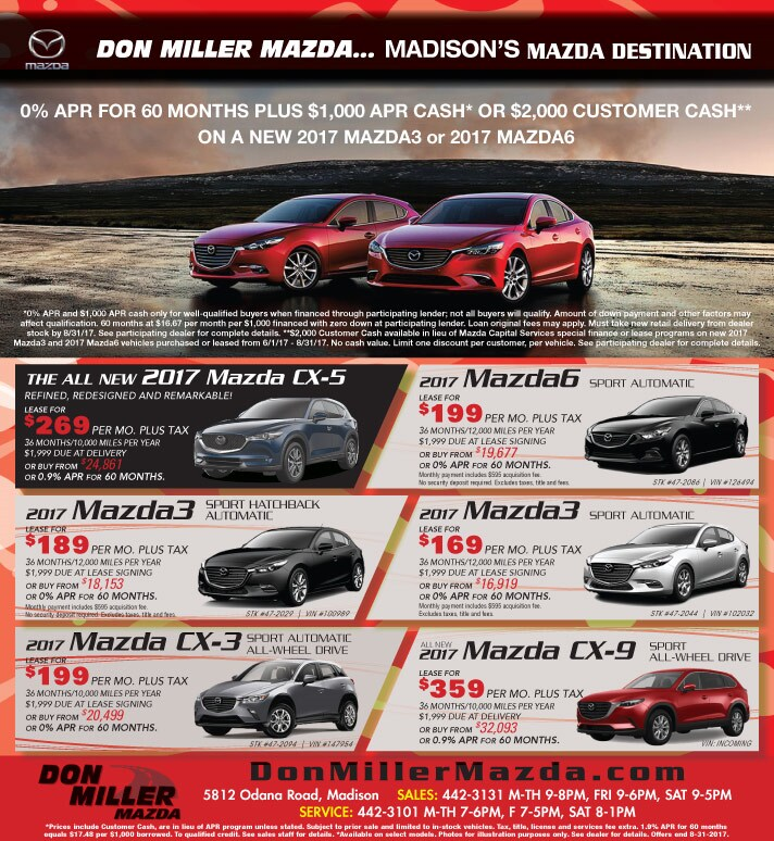 Mazda Sales Discounts In Madison Wi