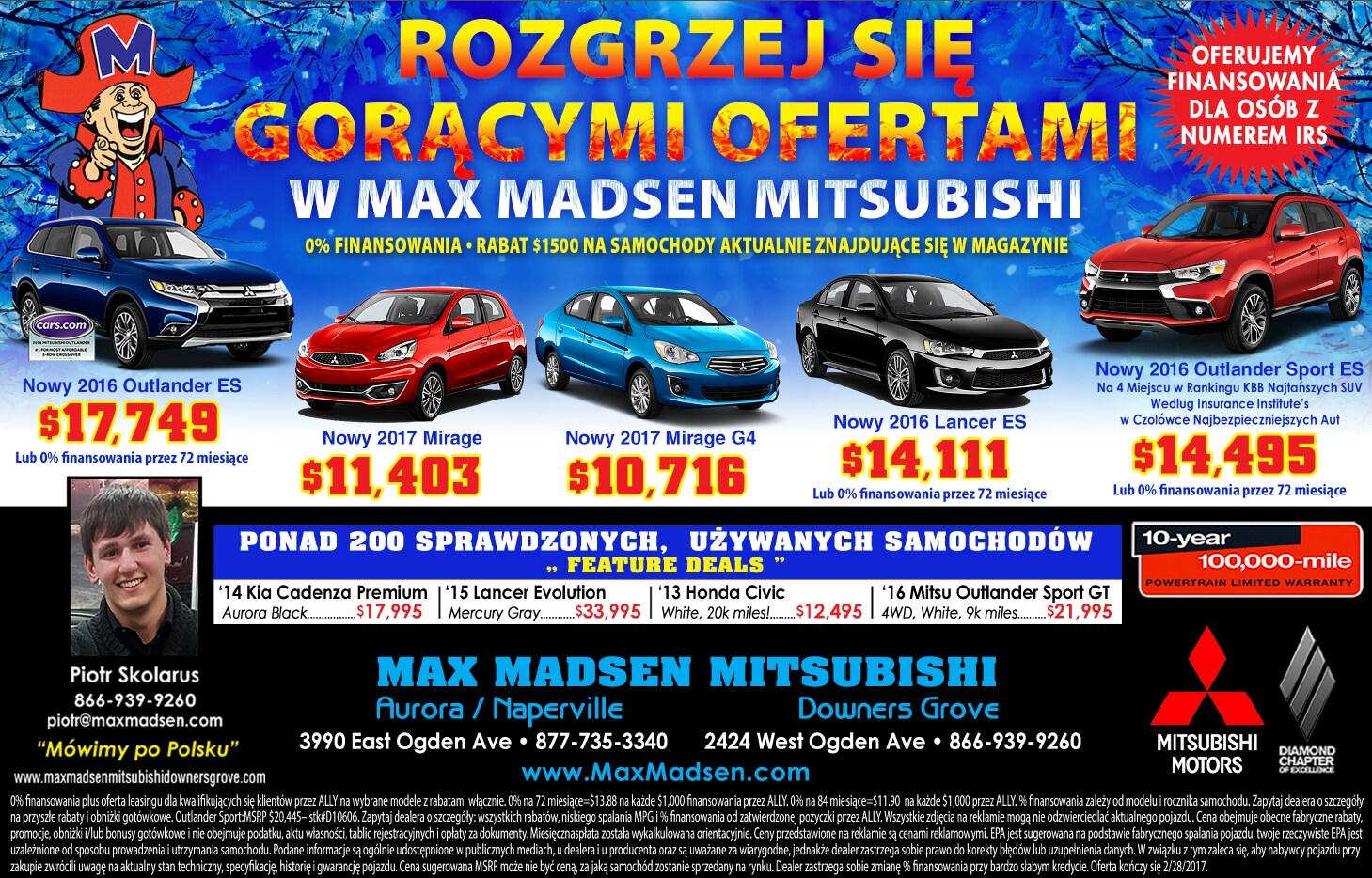 Max Madsen Mitsubishi >> Max Madsen Mitsubishi | New Mitsubishi dealership in Downers Grove, IL 60515