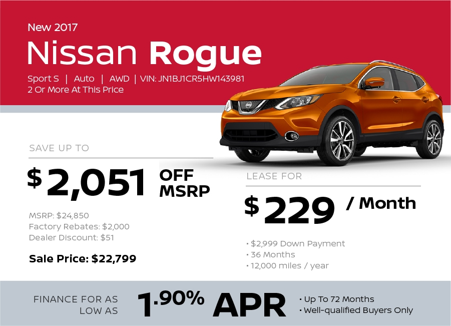 Nissan Rogue Sport Special Offer