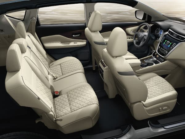 The interior of the 2020 Nissan Murano