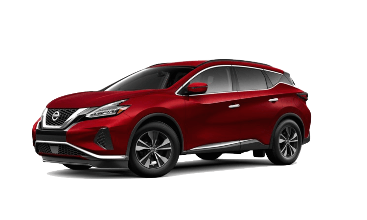 A red 2020 Nissan Murano SV