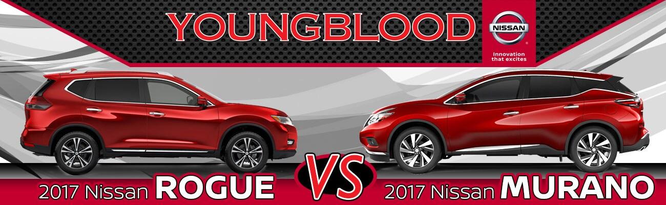 2017 Nissan Rogue Vs. 2017 Nissan Murano In Springfield, MO