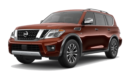 A brown Nissan Armada