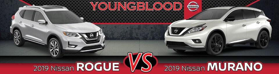 Nissan Rogue Vs Murano >> 2019 Nissan Rogue Vs Murano Near Nixa Mo Youngblood Nissan