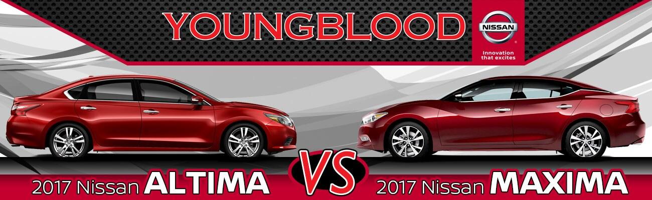 2017 Nissan Altima Vs. 2017 Nissan Maxima In Springfield, MO