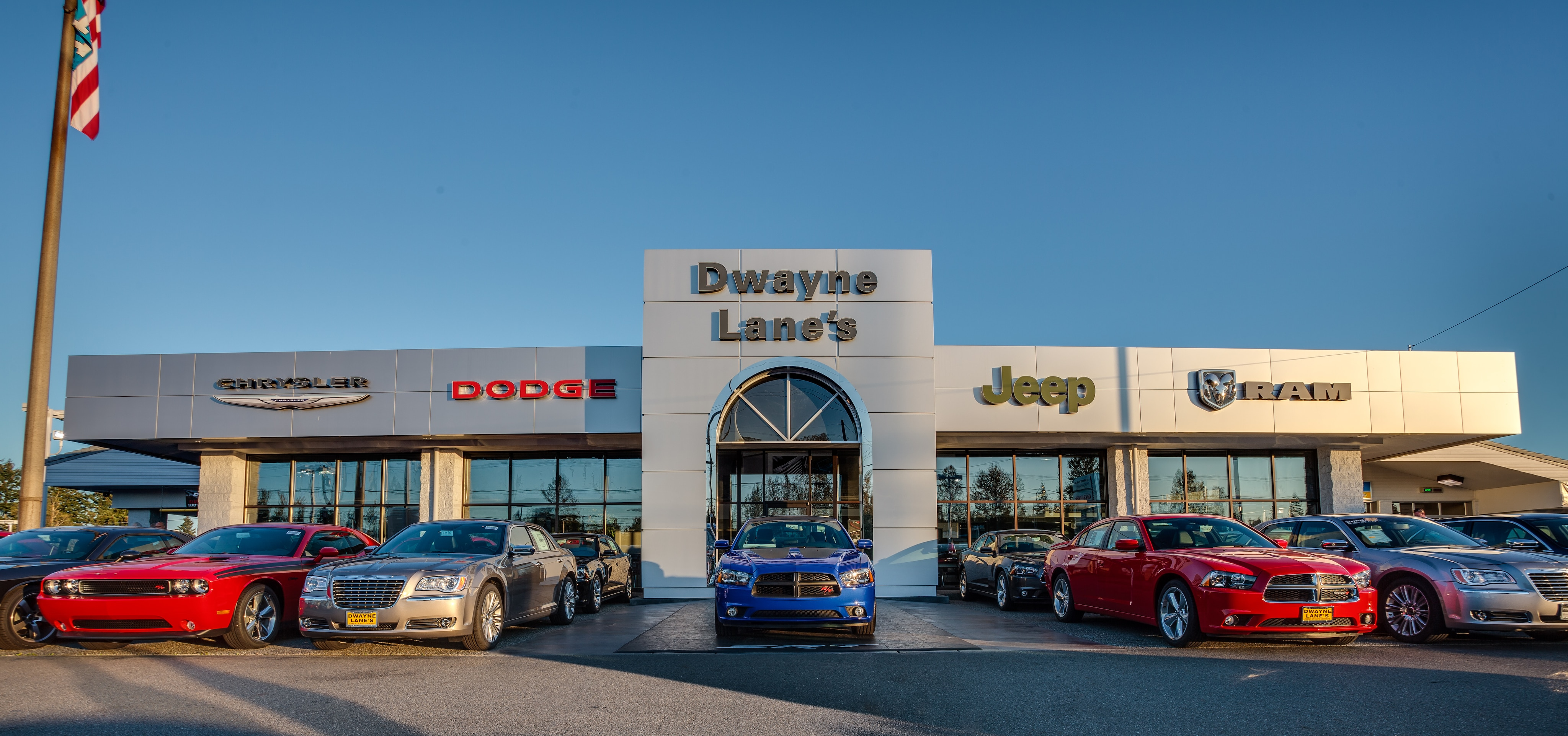 Dwayne Lane's has a Full Service Chrysler Jeep Dodge Ram Dealership in Everett, WA