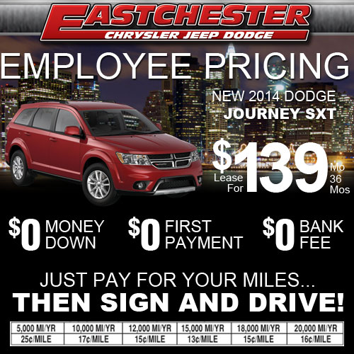 Toyota Employee Lease Program: Eastchester Chrysler Jeep Dodge