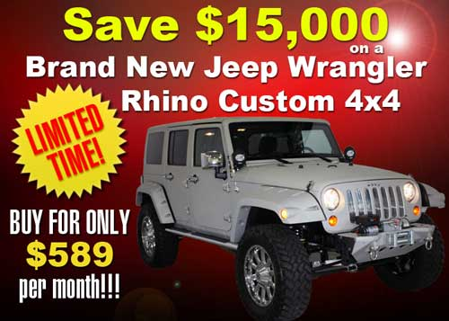 Save $15,000 on this Custom Jeep Wrangler 4x4