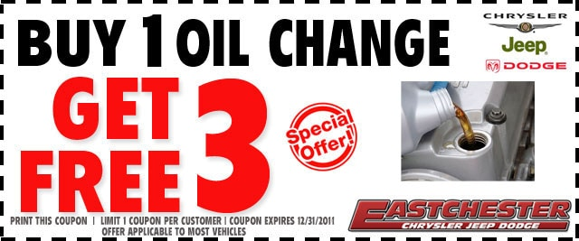 Eastchester Free Oil Changes