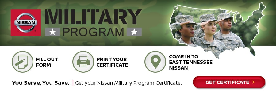 Nissan Military Program serving Knoxville TN
