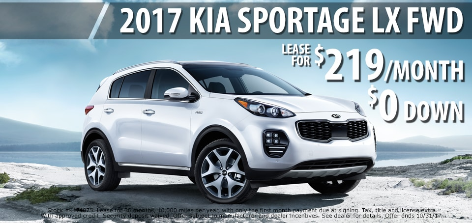 2017 Kia Sportage lease for only $219 a month