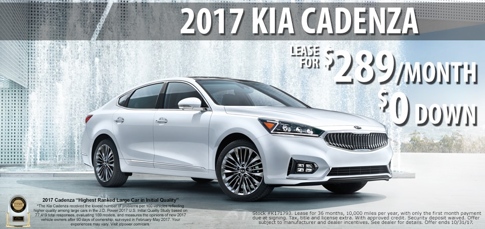 2017 Cadenza lease for only $289.00 a month