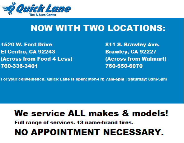 El centro motors new lincoln ford dealership in el for El centro motors quick lane