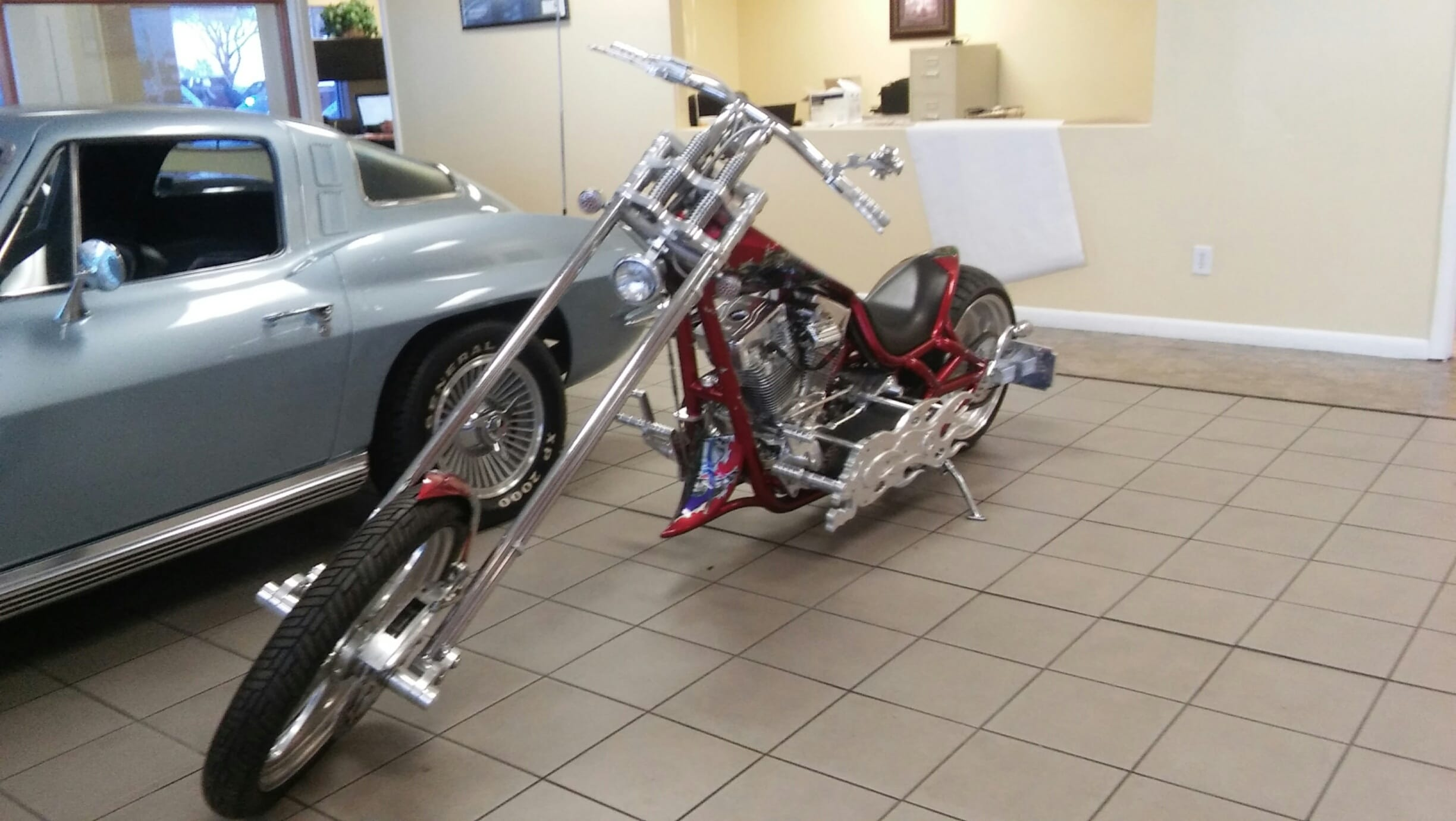 2001 Bourget Custom Retro Chopper Motorcycle