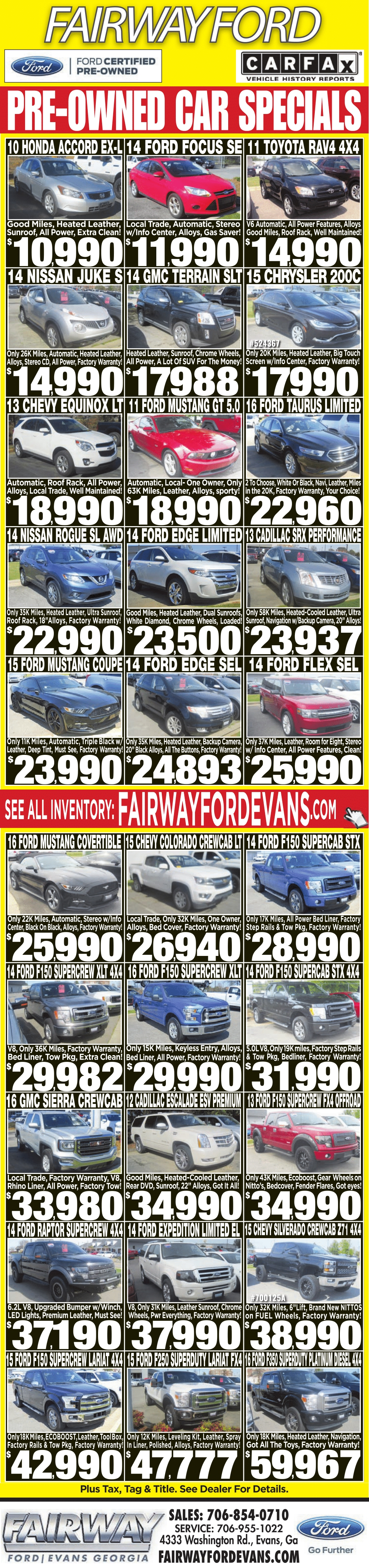 Fairway ford Used Cars Price Cars Release date