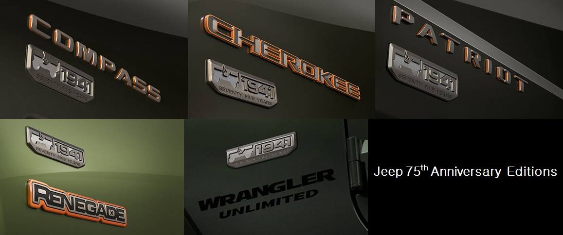 Jeep 75th Anniversary Special Edition Line Up Muskegon Mi