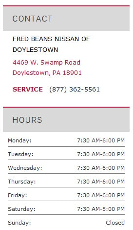 Doylestown Chevy Dealer >> Fred Beans Nissan Of Doylestown Dealer In Doylestown | Autos Post