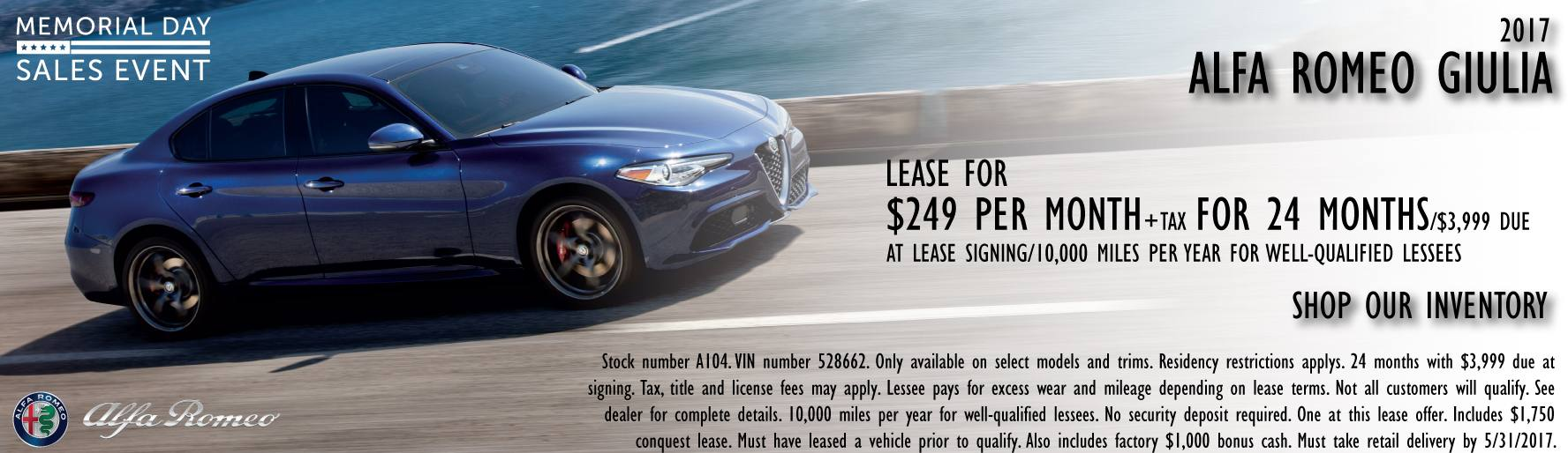 Alfa romeo giulia lease orange county