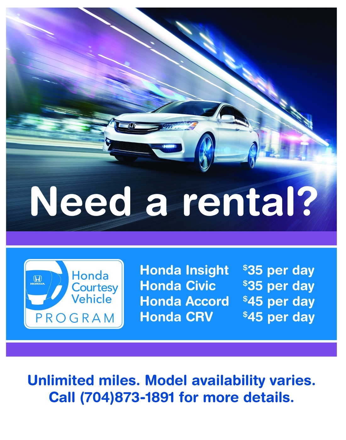 Contact national car rental customer service email phone for Flow honda service