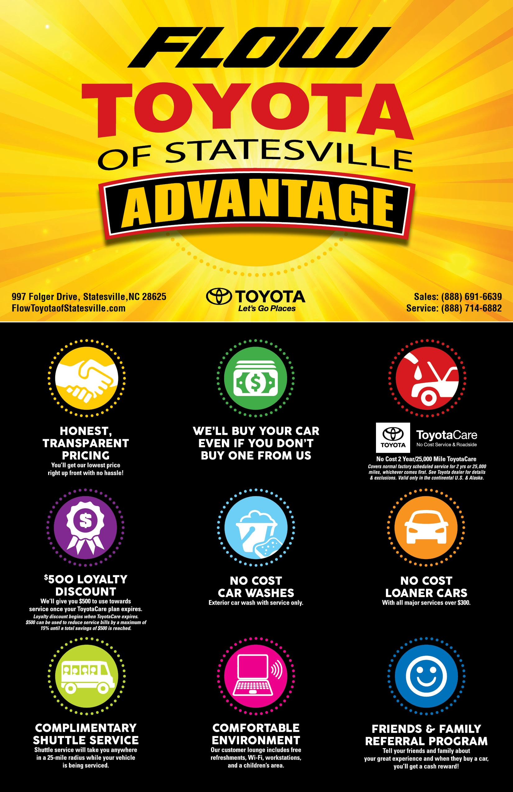 Toyota West Statesville Flow Toyota New Toyota Dealership In Statesville Nc 28625