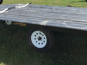 2017 Rainbow 12' Steel Snowmobile Trailer 2 Place