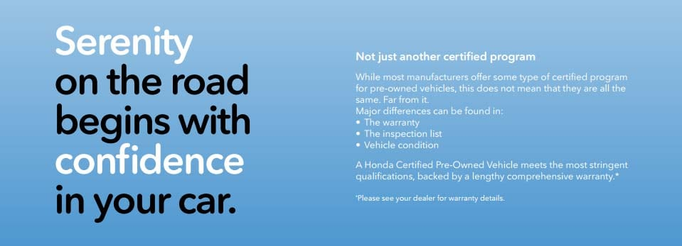 About Honda Certified Pre Owned Guarantee