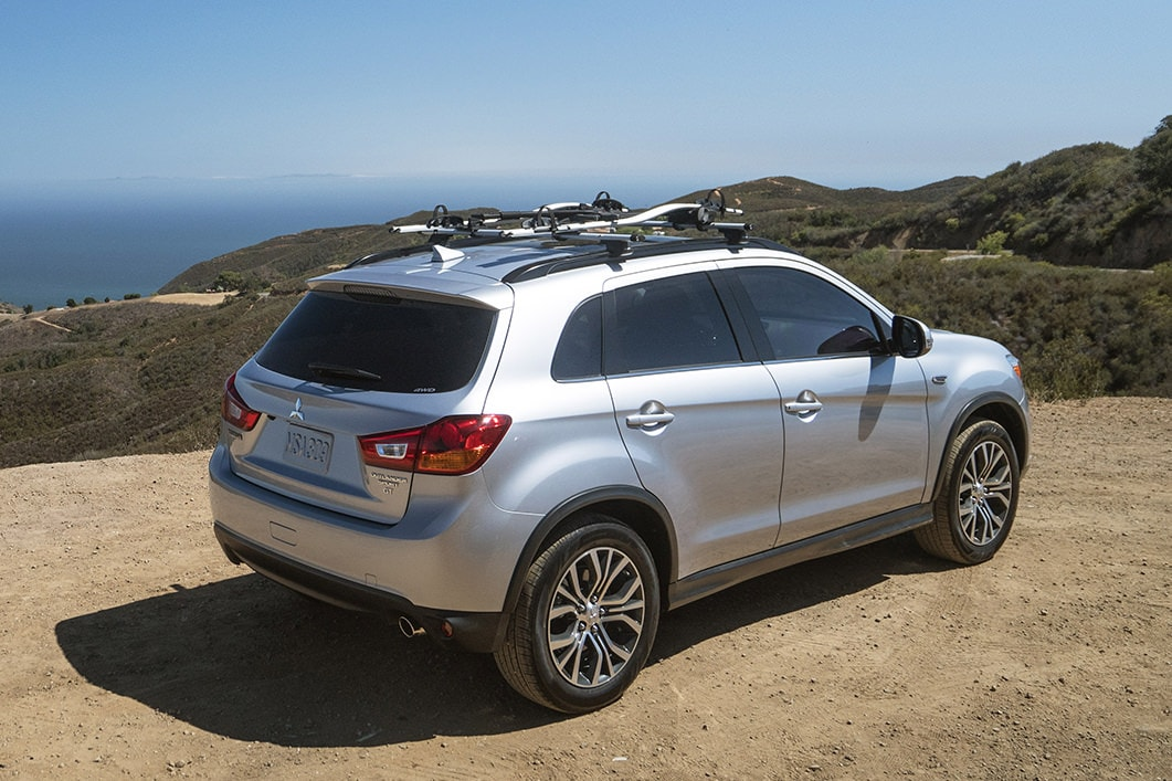 2017 Mitsubishi Outlander Sport with roof rack