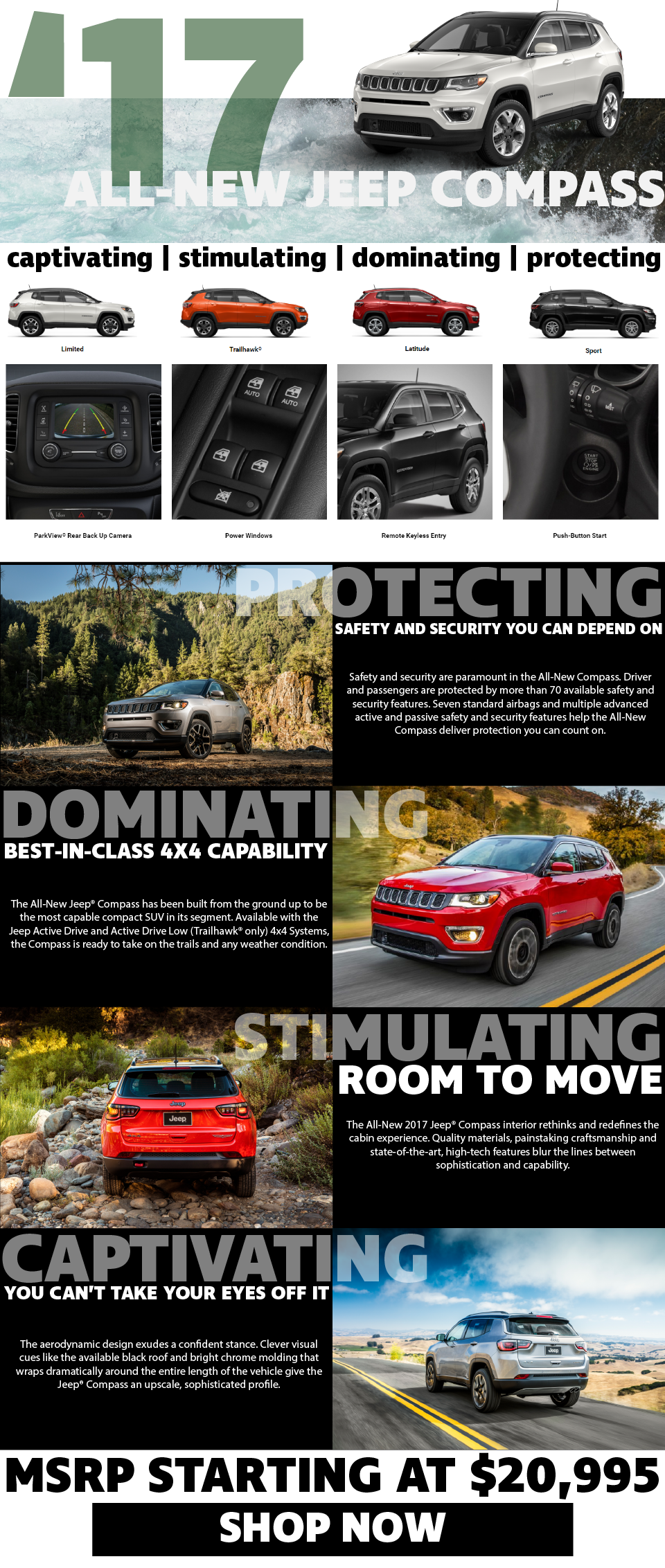 Foster Motors is introducing the new Jeep Compass to Middlebury, VT!