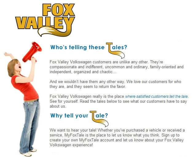 Customer Reviews about Fox Valley VW in St. Charles, IL