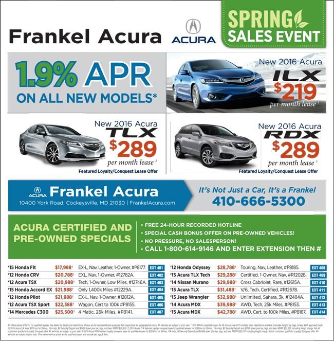 Frankel Acura Of Hunt Valley