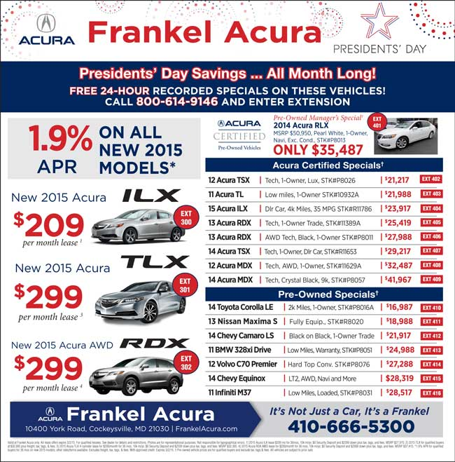 Acura Rdx Lease: New Acura Dealership In Cockeysville, MD 21030