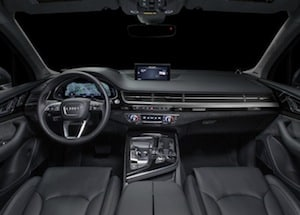 Cabin of the 2017 Audi Q7
