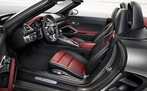 Interior of the 2017 Porsche 718 Boxster