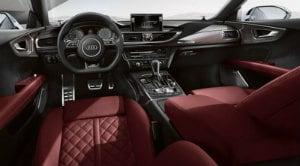 Interior of 2017 Audi S7