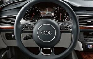 2017 Audi A6 steering wheel