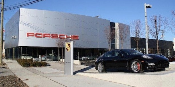 Audi and Porsche showroom in Birmingham