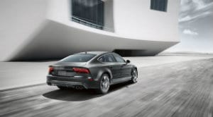 2017 Audi S7 from rear angle