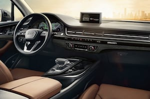 Cabin of the 2018 Audi Q7