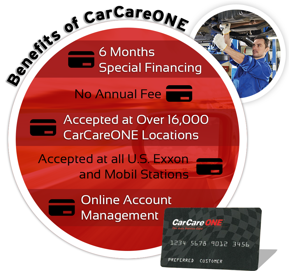 CarCareONE Auto Service Special Financing Credit Card At