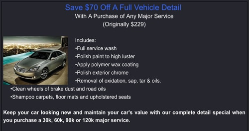 Fremont Lexus Service Coupon Sunrise Toyota Coupons